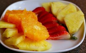 apts denver: plate of fruit