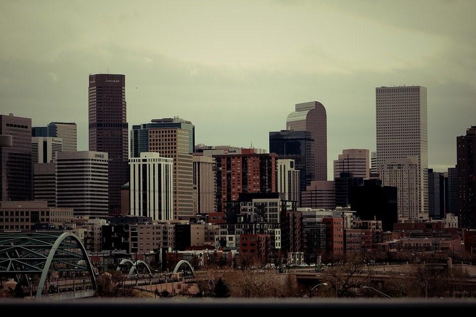Denver, Skyline, City, Cloudy, Urban, Colorado